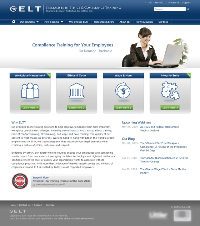 ELT, Inc. Website - Homepage